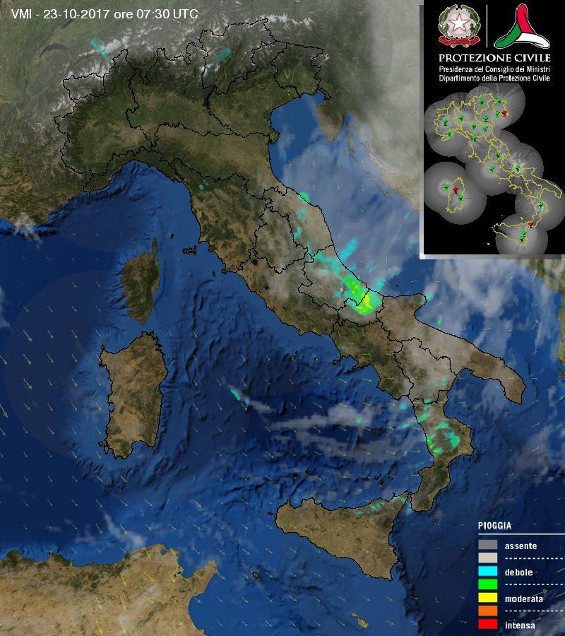 #DirettaMeteo dal satellite emblematica.  Concentrazione precipitazion...