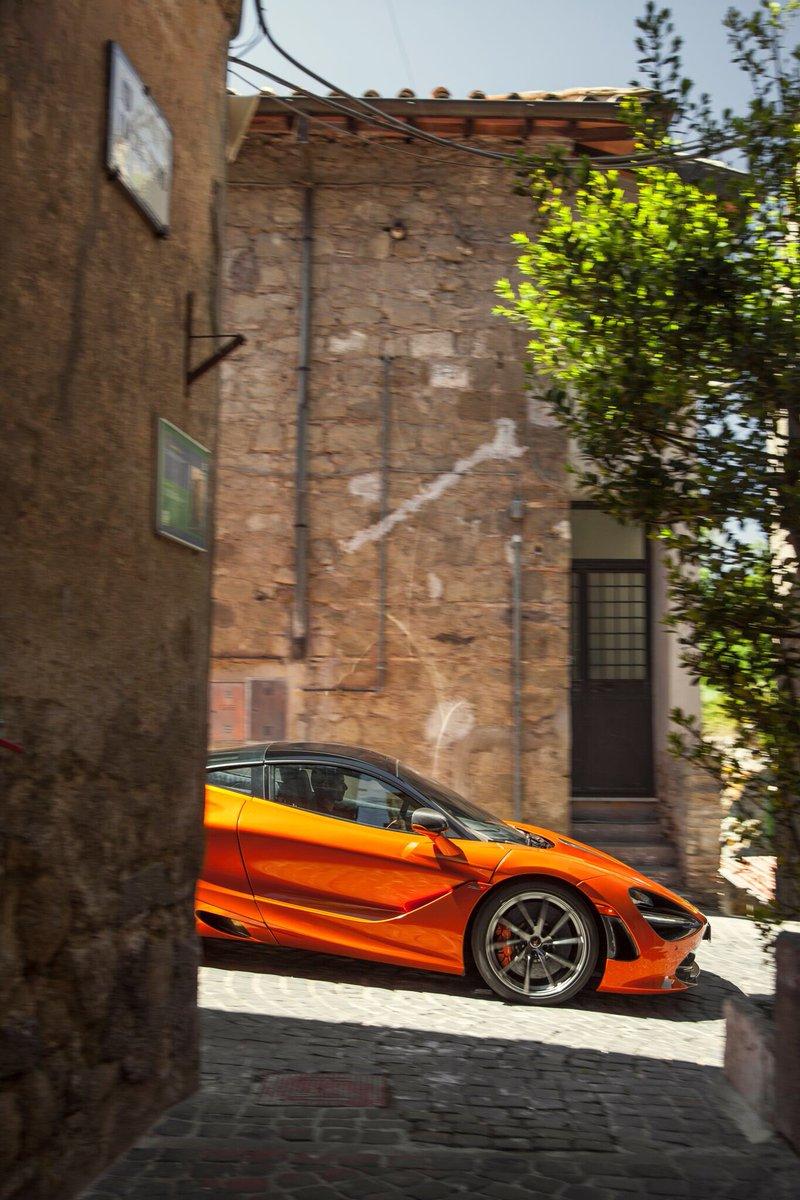 Adventures in the #McLaren 720S. Photographed here in the towns surrounding Vallelunga circuit in Italy #McLarenMonday<br>http://pic.twitter.com/yY0cjfWPQL