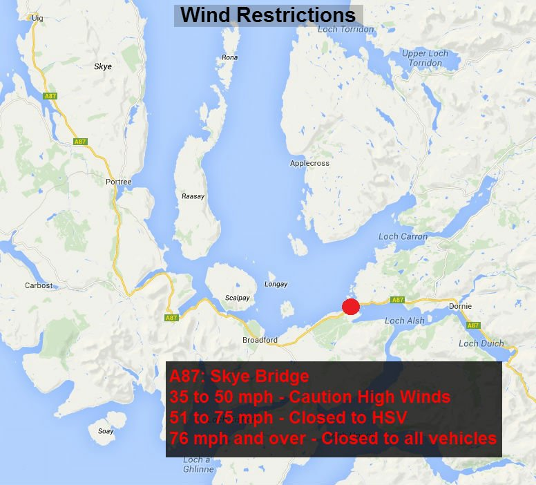 test Twitter Media - *NEW* ⚠ at 8:51  #A87 Skye Bridge - High winds warning in place. ALL vehicles can cross BUT please check before you travel 👍  @NWTrunkRoads https://t.co/X7AWq3pdo0