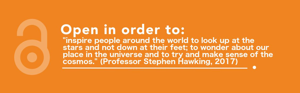 Professor Stephen Hawking has explained why his PhD thesis has been made #openaccess for #oaweek.  https://www. theguardian.com/science/2017/o ct/23/stephen-hawking-1966-thesis-cambridge-university-properties-of-expanding-universes &nbsp; … <br>http://pic.twitter.com/GmGnozOwxb