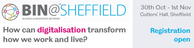 Catch @SamChapman @ The BIN Event in Sheffield 30Oct-1Nov talking air pollution/future of mobility #digitalisation #BINShef17 @UoSinnovation<br>http://pic.twitter.com/yJCM3lsWrv