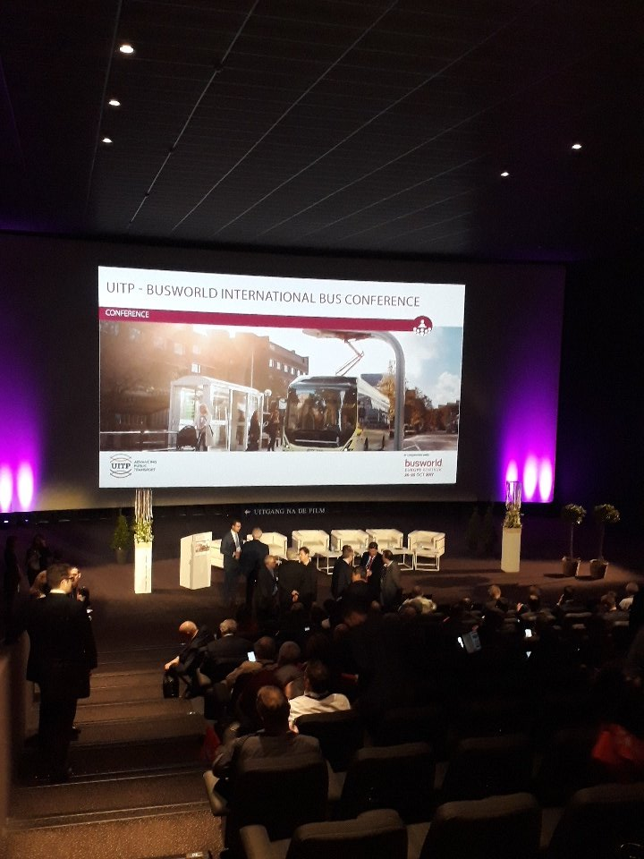 The participants begin to gather for the opening of #UITPxBUSWORLD - Lets start to talk about #digitalisation #electrification #Automation<br>http://pic.twitter.com/wFc2Dn6KnM
