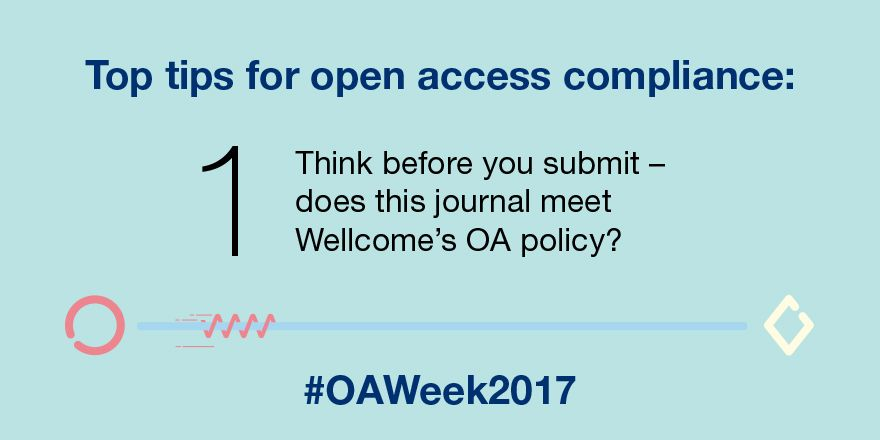 It&#39;s Open Access week! We&#39;re going to sharing some tips that we hope will help you meet our #OA policy #OAWeek  http:// wellc.me/2x0iIwF  &nbsp;  <br>http://pic.twitter.com/yO8ufdtOKT