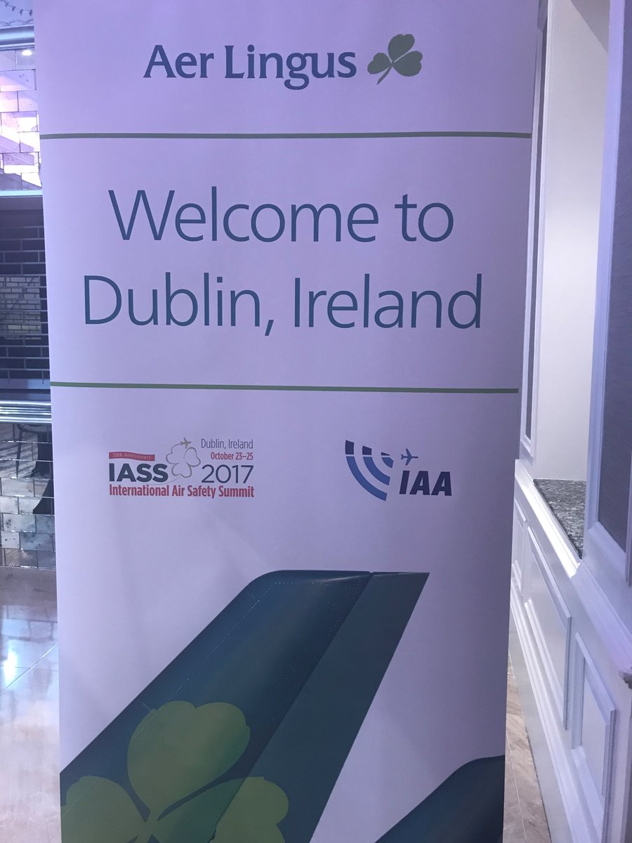 IAA welcomes @flightsafety to Dublin! Great opening address by IAG CEO Willie Walsh #IASS2017 #Aviation #safety <br>http://pic.twitter.com/ECkpi6KvS3