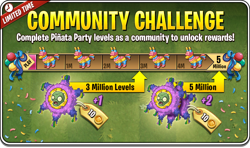 Pinata party plants vs zombies prizes