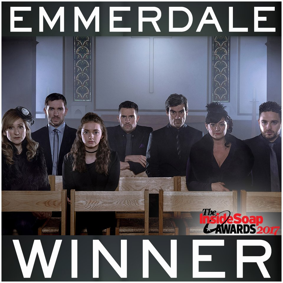 WOW...We're going back to Yorkshire with the award for BEST SOAP at @InsideSoapMag awards!  #LoveOurFans #Emmerdale