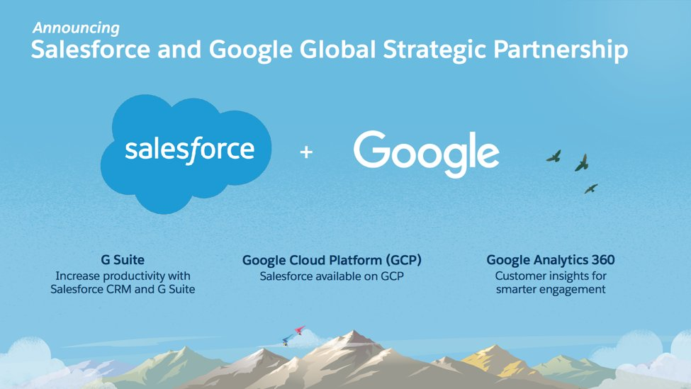 We're joining a long line of epic duos. @Salesforce and @Google are partnering to connect you like never before. http://sforce.co/2yAXJpf
