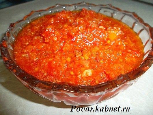 Аджика острая на зиму рецепты из помидор