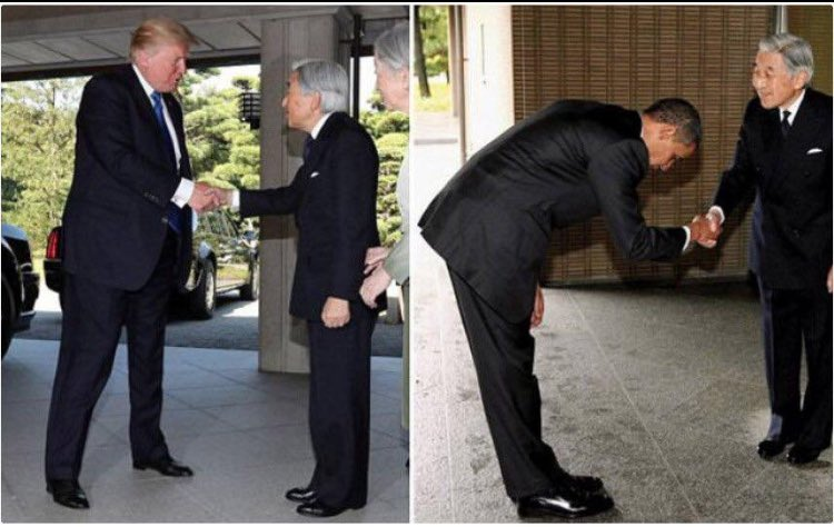 Trump Vs. Obama with Japanese Emperor Akihito