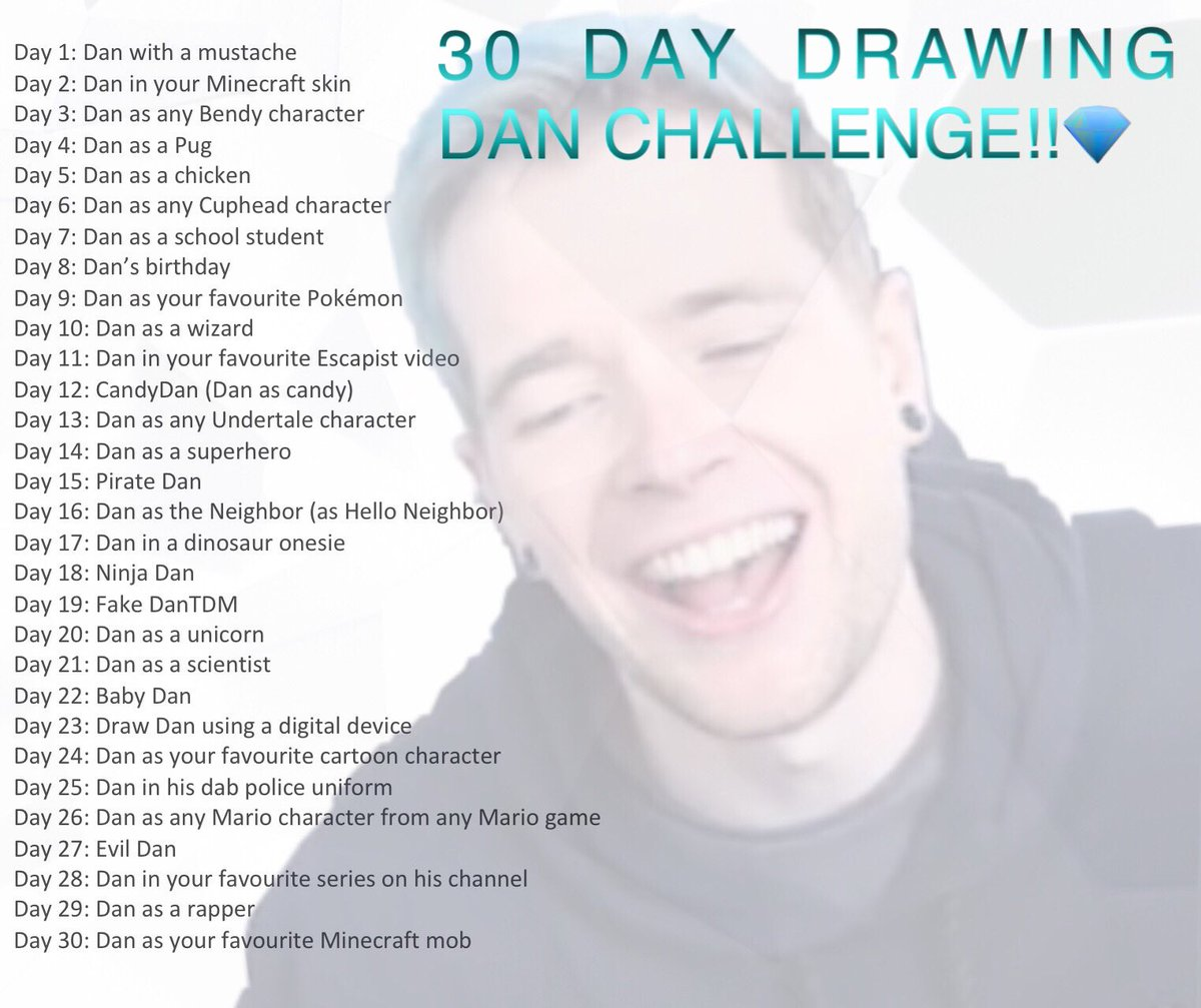 This is a graphic of Candid Dantdm Drawing Challenge