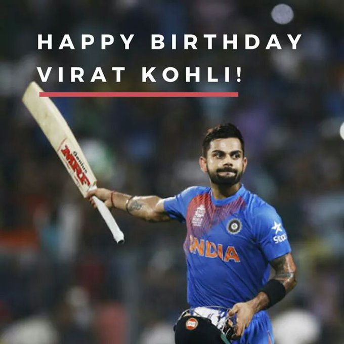 Happy birthday To VIRAT KOHLI...