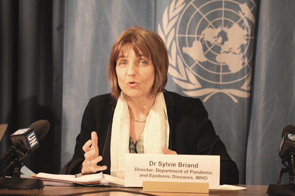 Image result for Sylvie Briand, head of the pandemics department