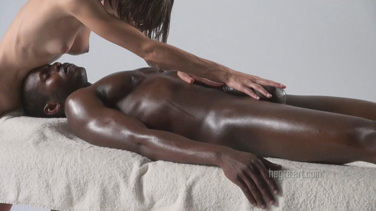Black Dick Oil Massage Porn