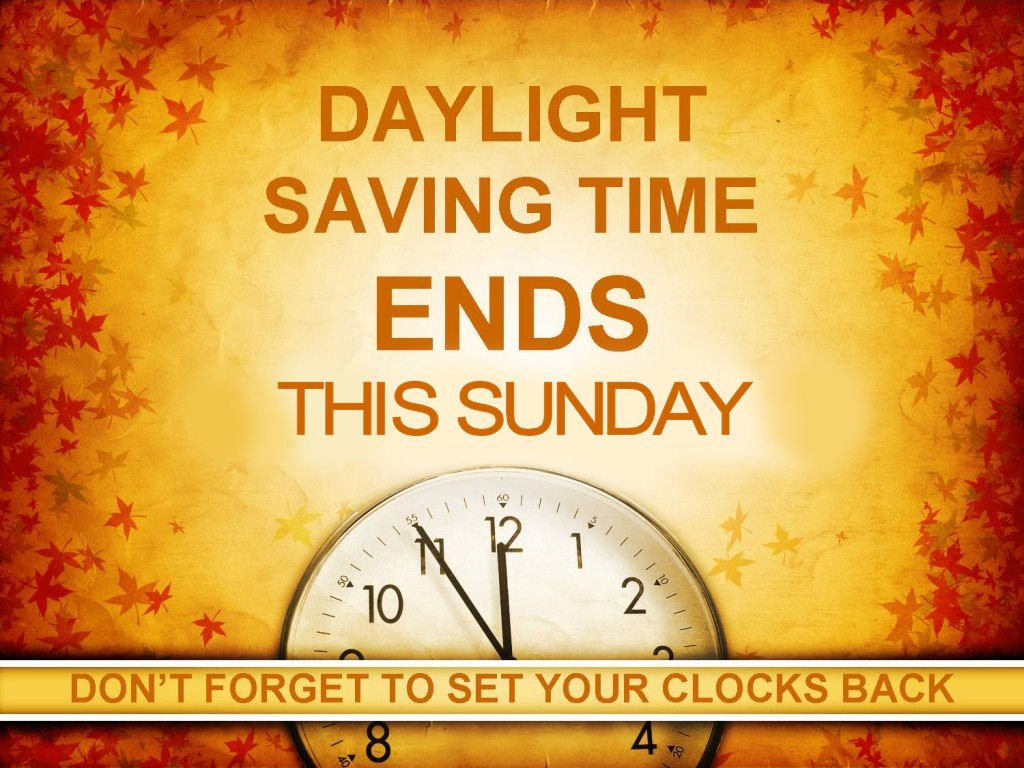 Don't forget! Roll your clocks back 1 Ho...