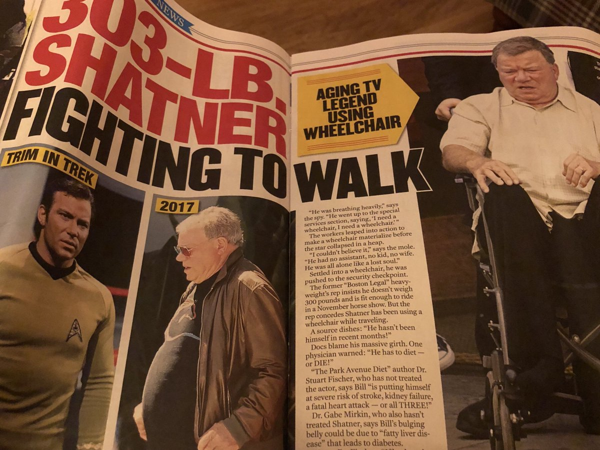 William Shatner On Twitter The Enquirer Has Ben Blocked For Years