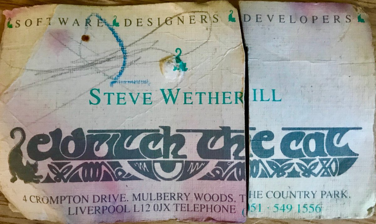 steve wetherill on twitter business card from the 80 s no website