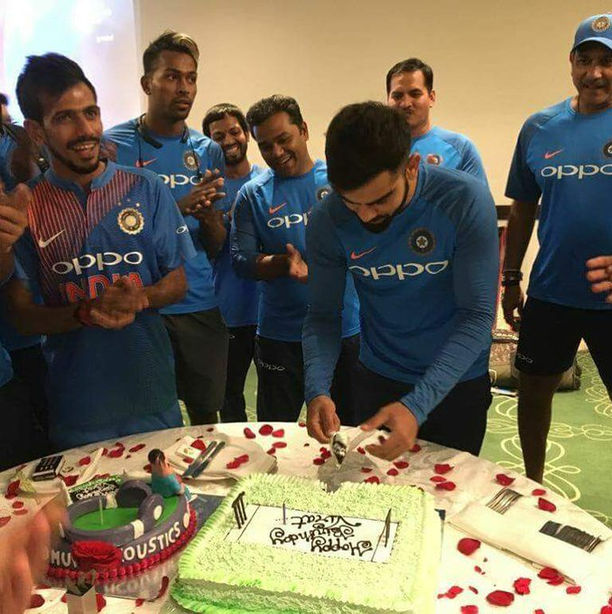 Happy birthday indian captain Virat Kohli by                                  .