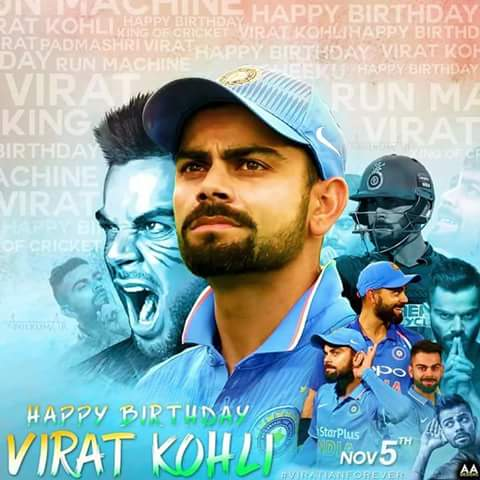 Happy birthday Virat Kohli     Have a successful life