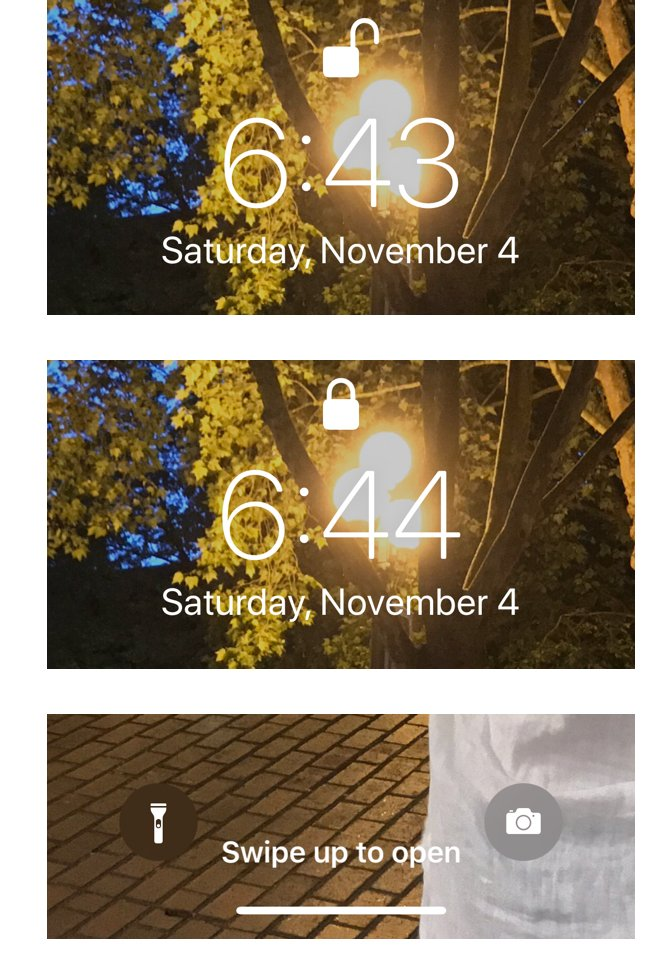 Several screens from FaceID user experience.