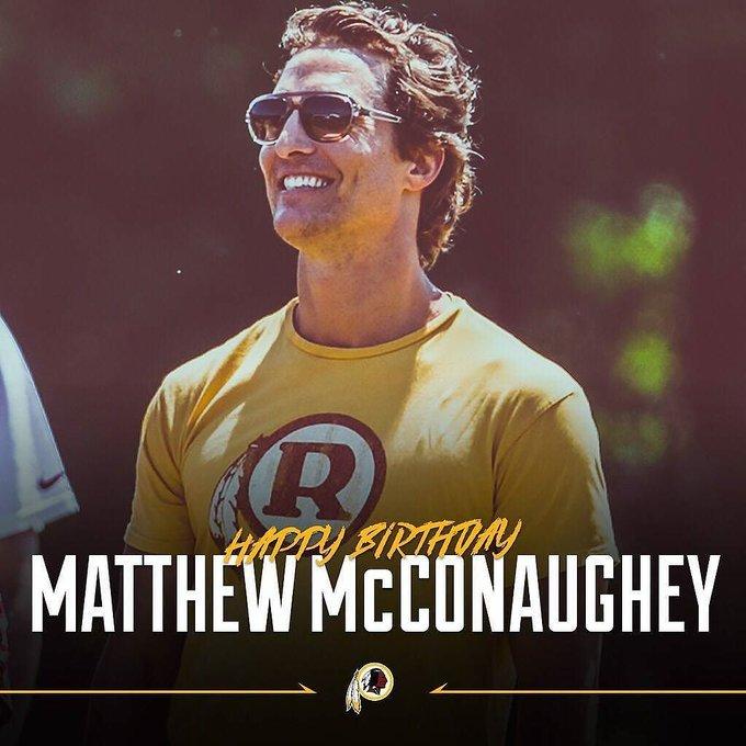 Alright alright alright happy birthday Matthew McConaughey!  from