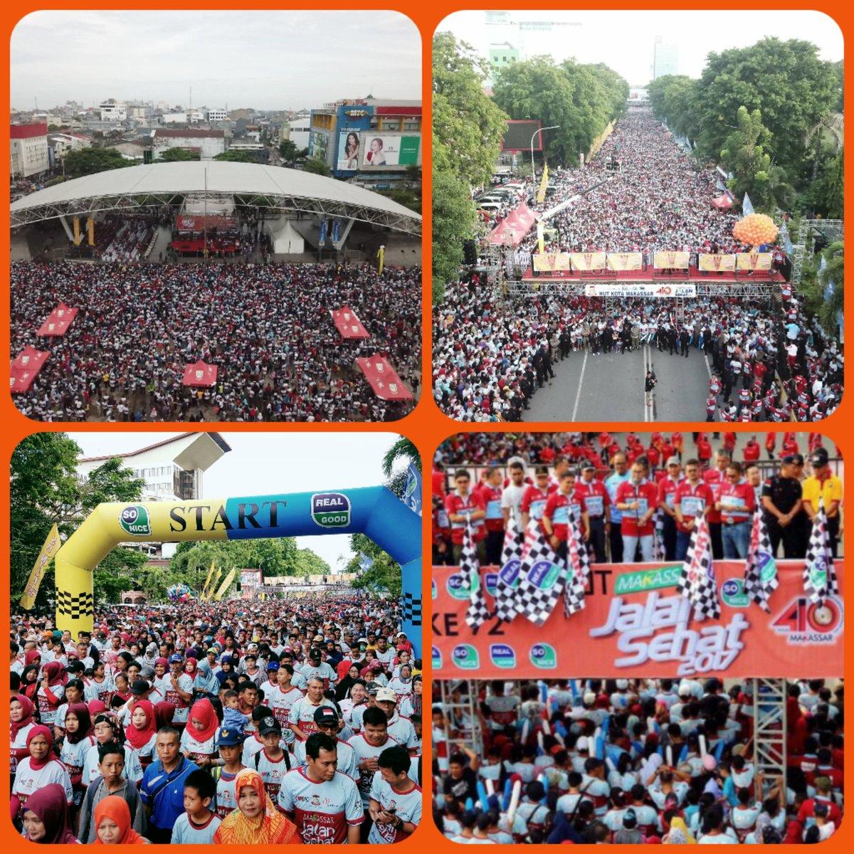 Makassar2✖➕✔ Oppokiiiiii....  Ratusan Ribu Peserta Jalan Sehat HUT Kota Makassar dilepas Wali Kota @DP_dannypomanto  https://t.co/0gvzutPC5u https://t.co/ZZzvfqhxKc