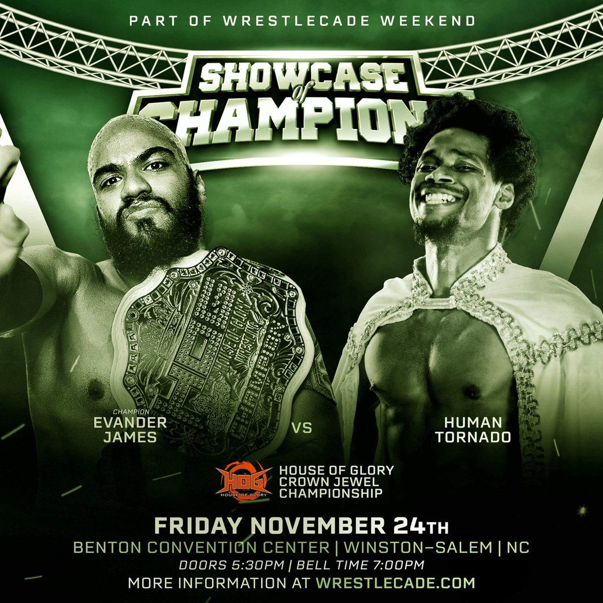 Looks like Im taking my talents to North Carolina, and Ill put the #hogwrestling #crownjewel on the line!!! You can #trustthat