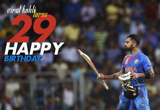 Wish you very very happy birthday sir virat kohli