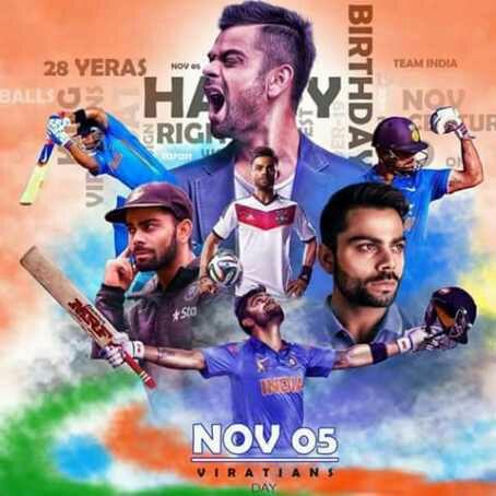 Happy birthday Machine of India kohli......