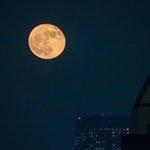 昨日の満月は逃したけど、今日の月の出も、なかなかいい感じ@東京 byムーンハンター pic.twit…