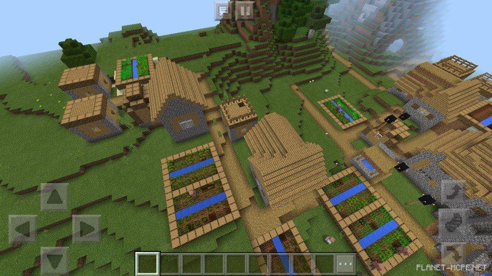 какие есть сиды в майнкрафте где деревня #4