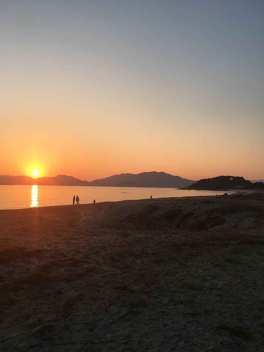 虹ヶ浜。夕日キレイ! https://t.co/4T87IDmN0w