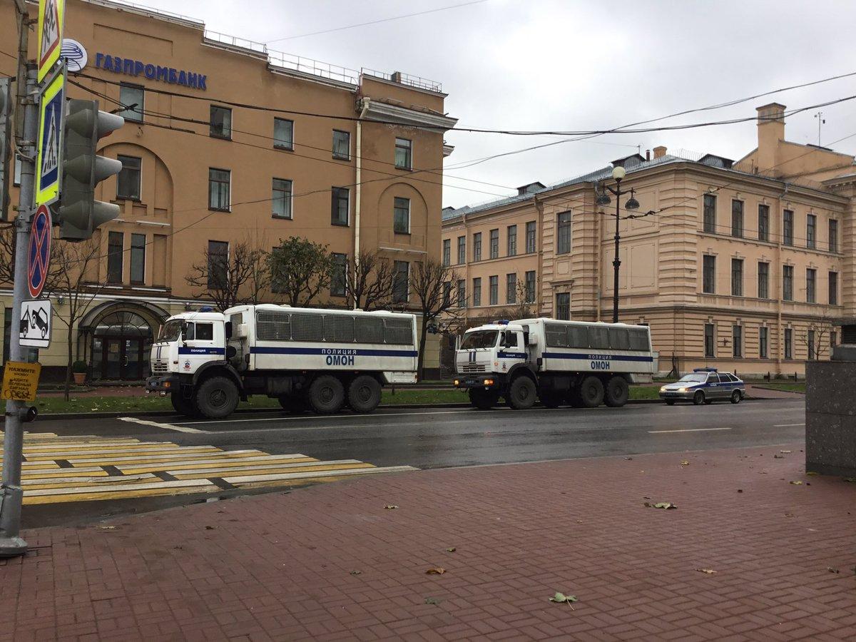 петербург протесты