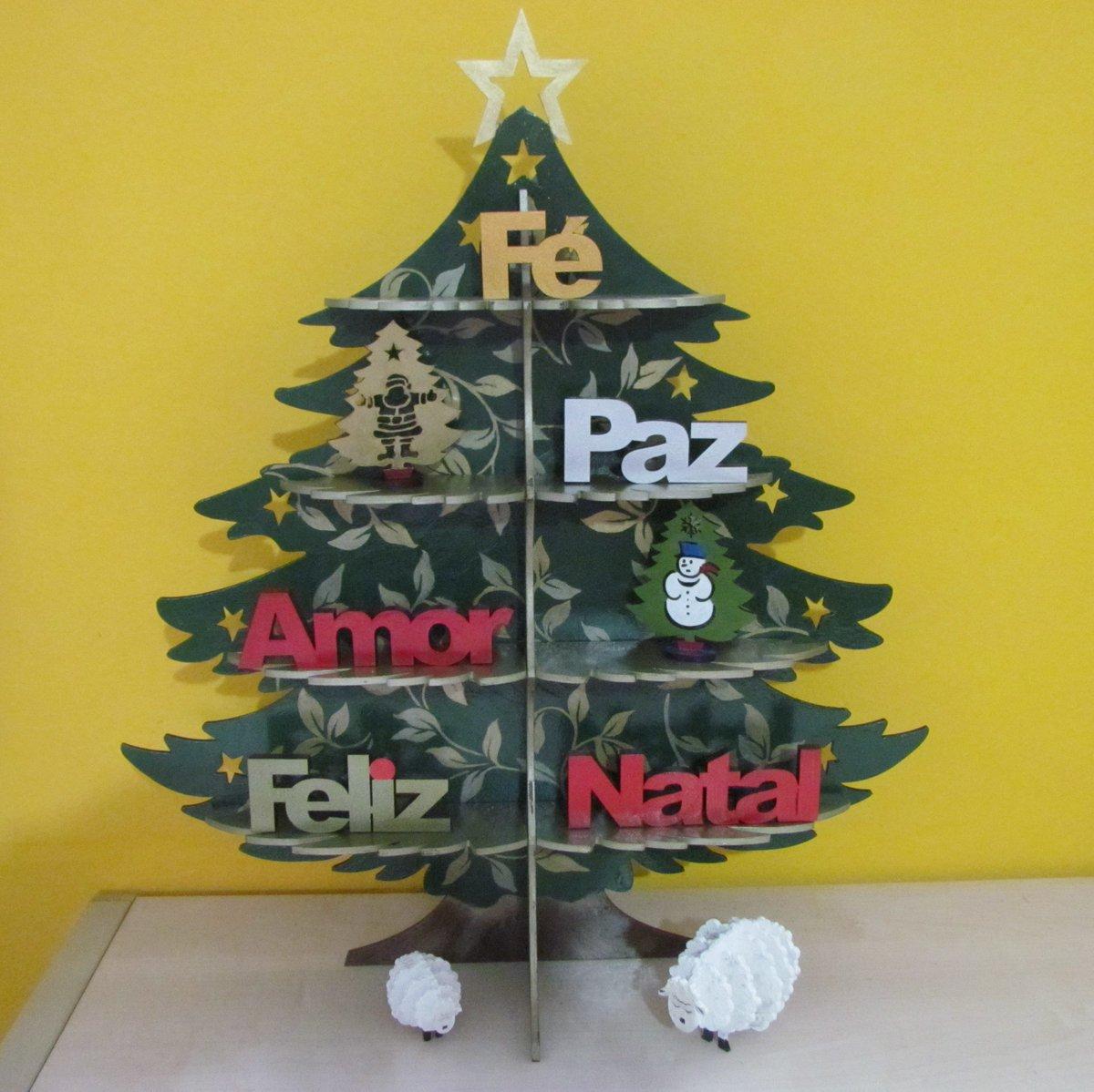 Dazinaartesanato On Twitter Linda árvore De Natal Mdf Pintada