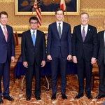 ライトハイザー通商代表(右から2人目)、クシュナー大統領上級顧問(右から3人目)との会談 pic.t…