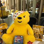 #Pudsey working his #magic at the #BBCRadio2 Gala Lunch at the #Dorchester in London! #ChildrenInNeed  #BBC #BBCR2 #BrainBox #MarvinsMagic