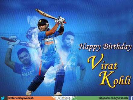 Happy birthday.... many many happy returns of the day Virat Kohli....