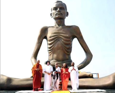 34 ft statue of Shrimad Rajchandra unveiled, works to set up 250-bed hospital kick off