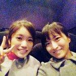 今日のお仕事おわり。朝はキュアマカロン役咲さんとプリキュア映画をみてきたんですよ(*´꒳`*)満席‼…