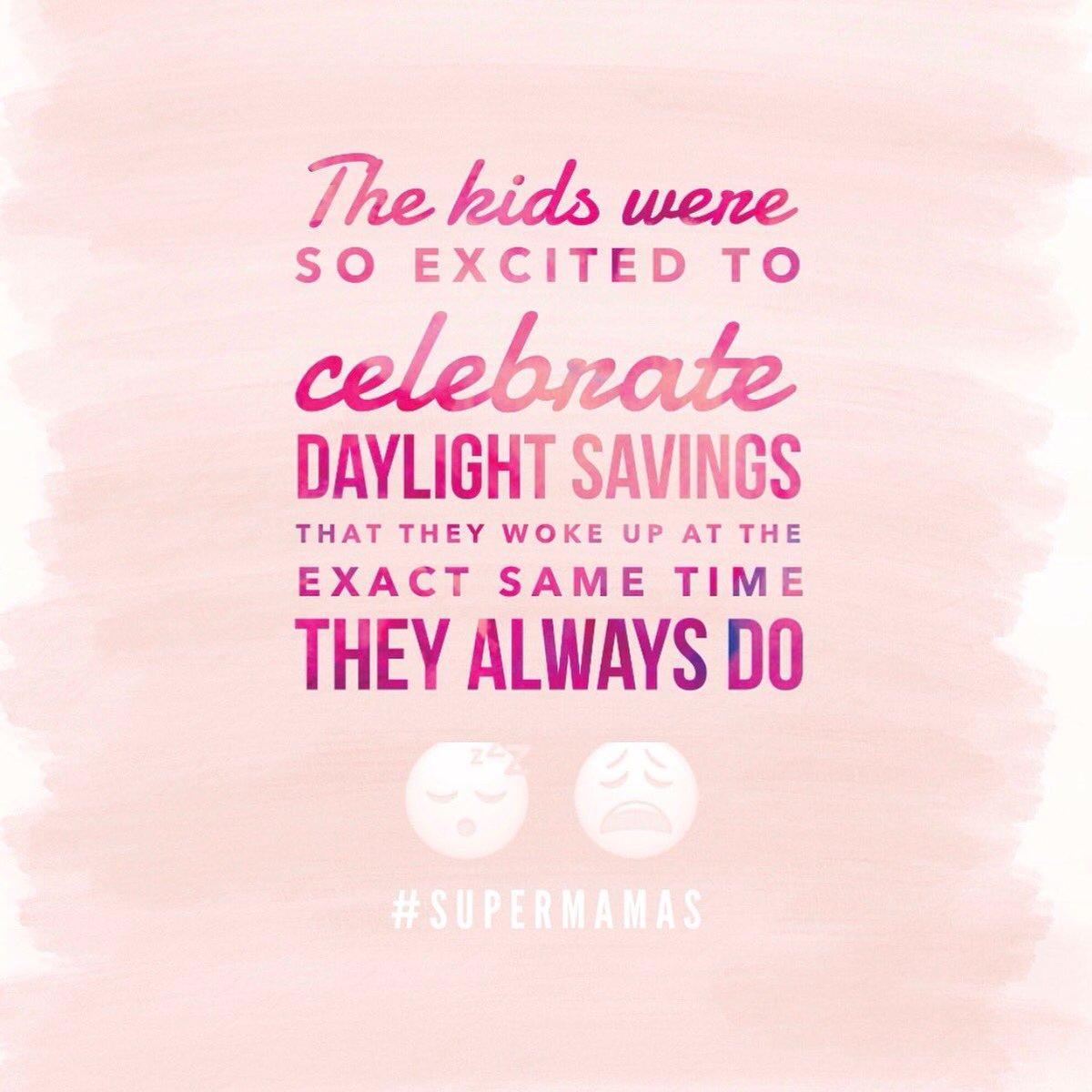 What extra hour ?! 🤷🏽♀️😫 #supermamas #DaylightSavings #SuperMamasPodcast #momlife