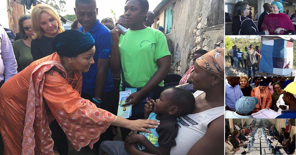 Амина Мохаммед:  гаитянцы   нуждаются в  инвестициях в развитие объектов инфраструктуры