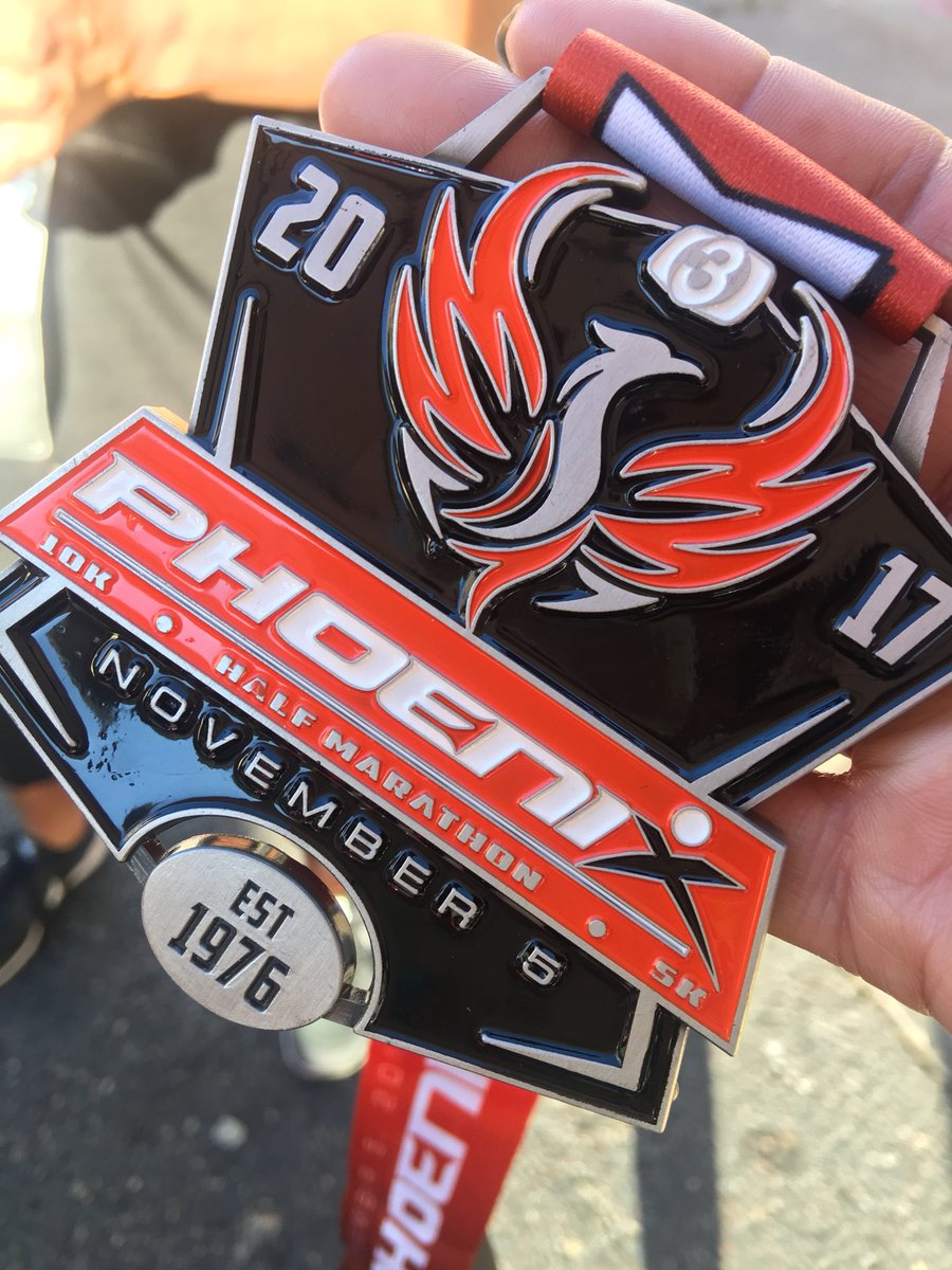 I finished the @PHX10K 5K walk and got one of these cool medals!