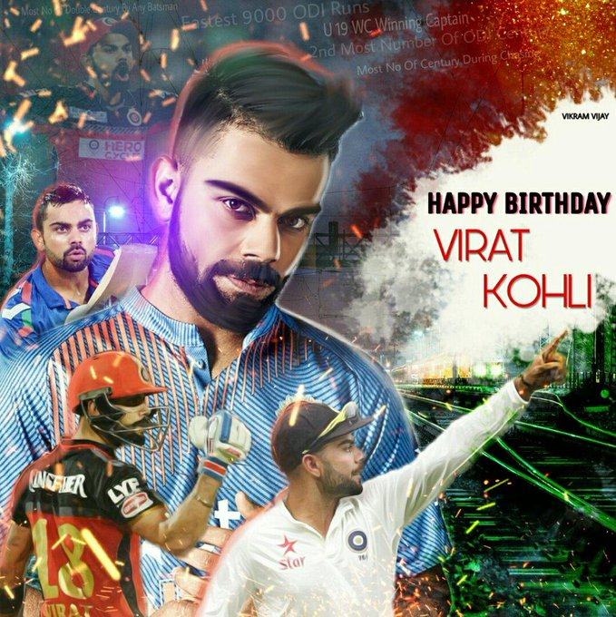 Happy birthday virat kohli