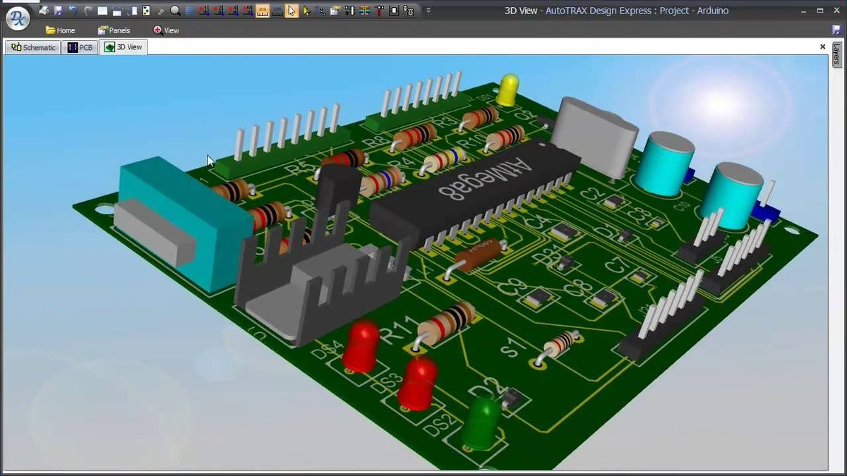 Circuit Board Simulation - Wiring Diagram •