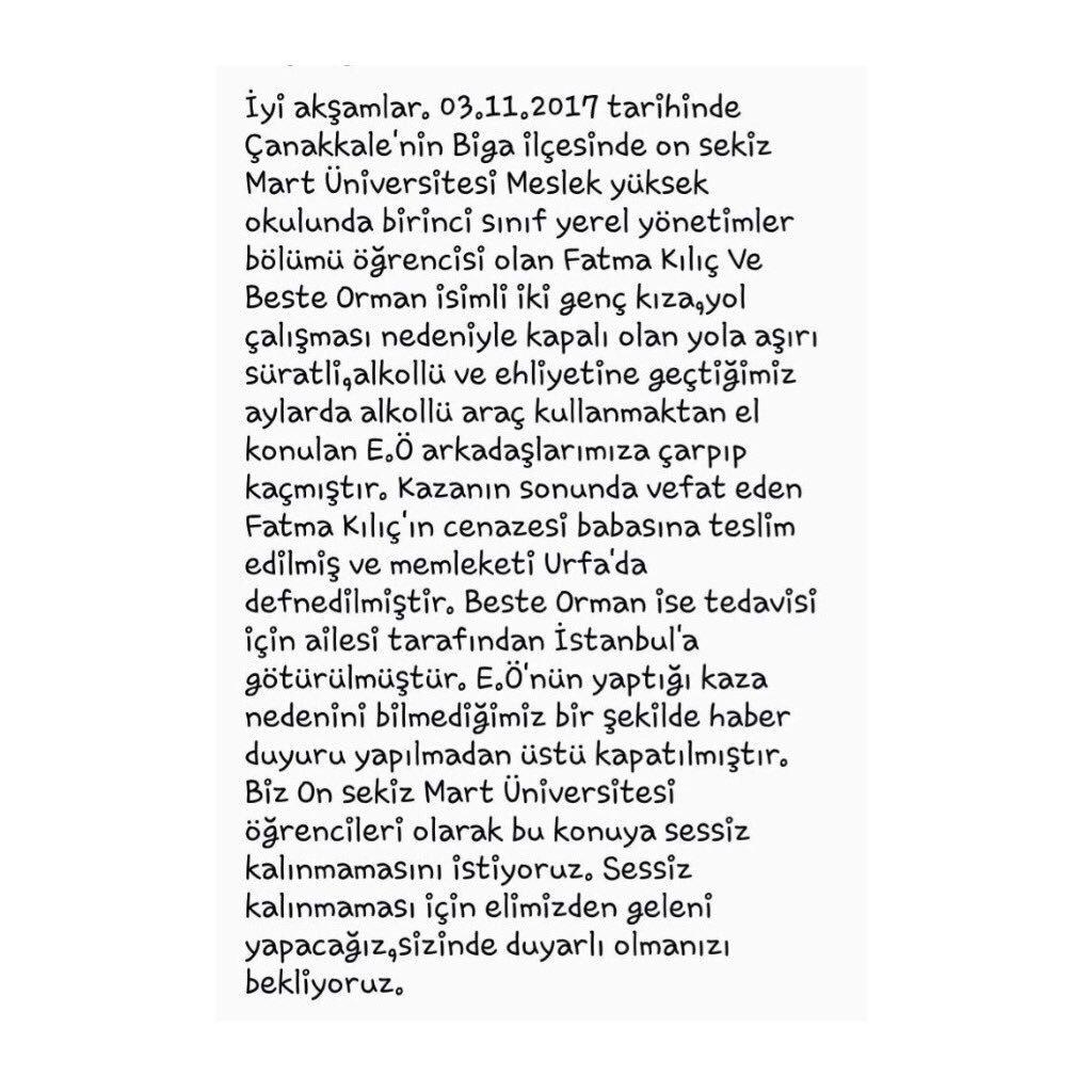 SESSİZ KALMA BİGA ! #FATMAKILIÇ #biga #b...