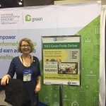 Green Section Council's @LauraStukel is ready to talk #greenmls. Stop by booth 4135 to say hi!