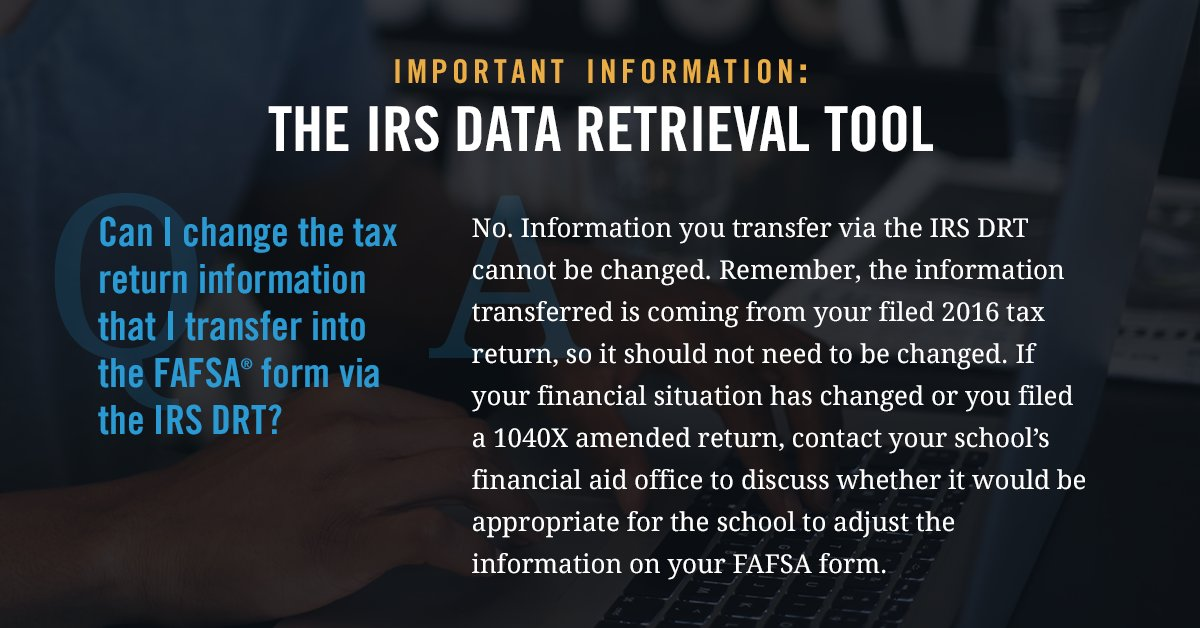 Federal Student Aid On Twitter Its Easy To Add Your Tax