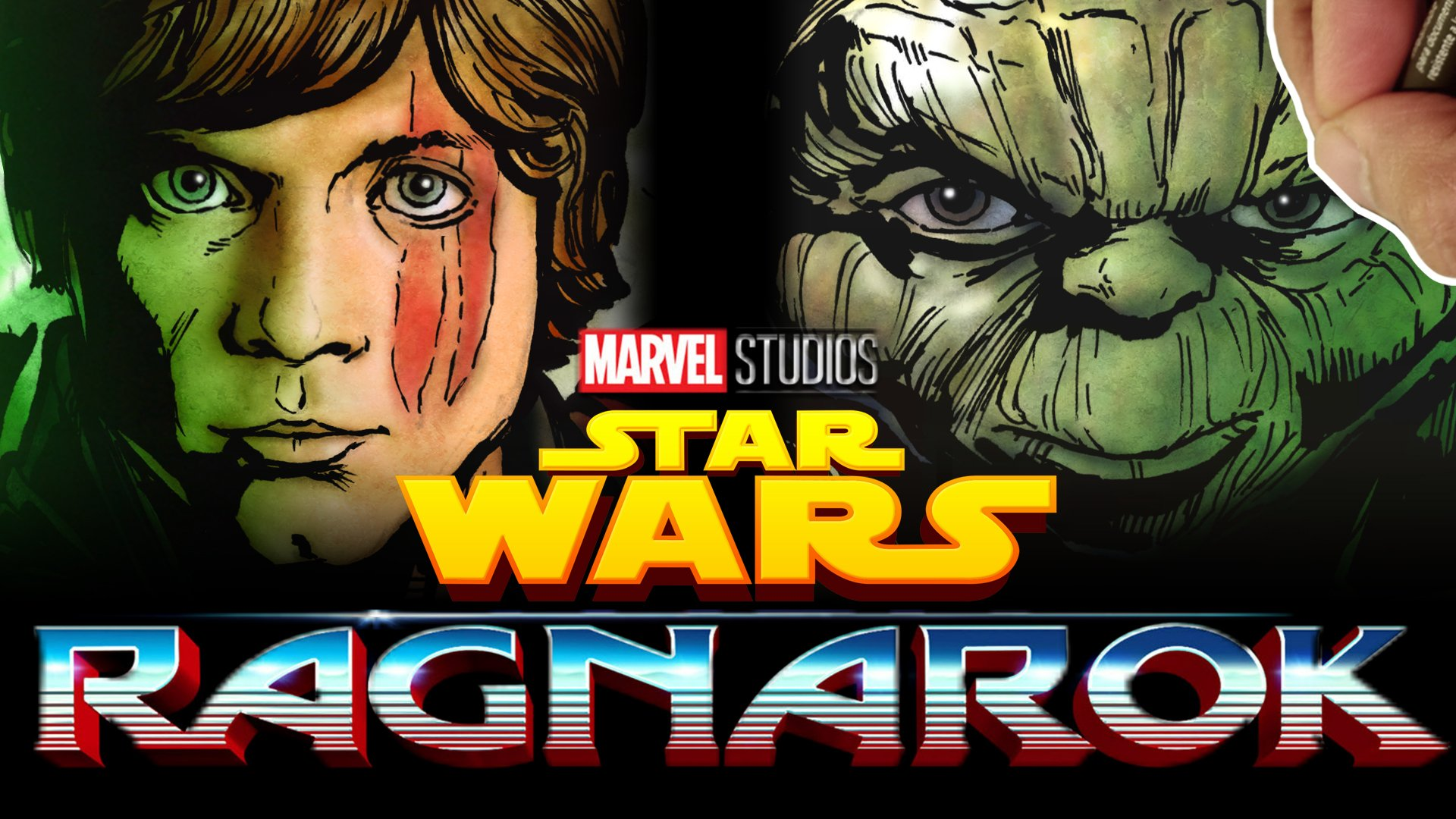 James Raiz On Twitter Yoda As Hulk Hamillhimself As Thor Mashing Up Starwars With Thorragnarok Watch Me Draw The Full Image Here Https T Co Oihd7i18fs Https T Co Kij9esweg6
