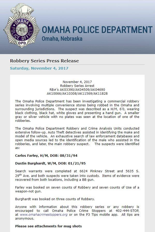 Omaha Police Warrants