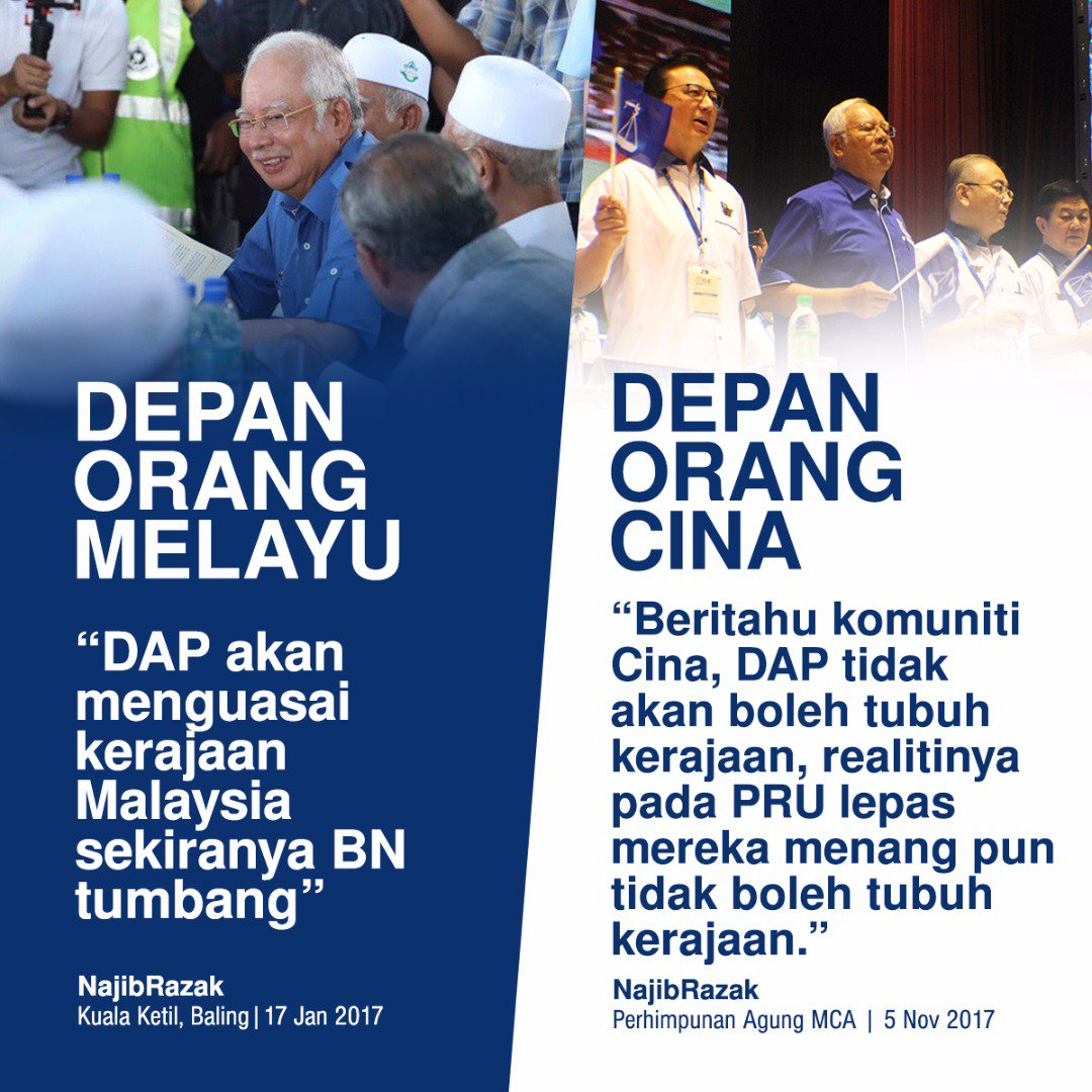 Image result for Double Faced Najib