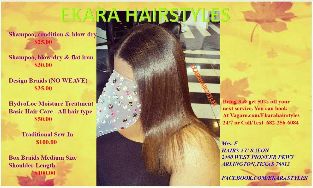 Ekara Hairstyles on Twitter:
